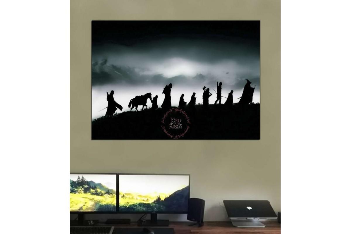 srye25b - Yüzüklerin Efendisi, Yüzük Kardeşliği, LOTR-Lord of the Rings-Fellowship Kanvas Tablo