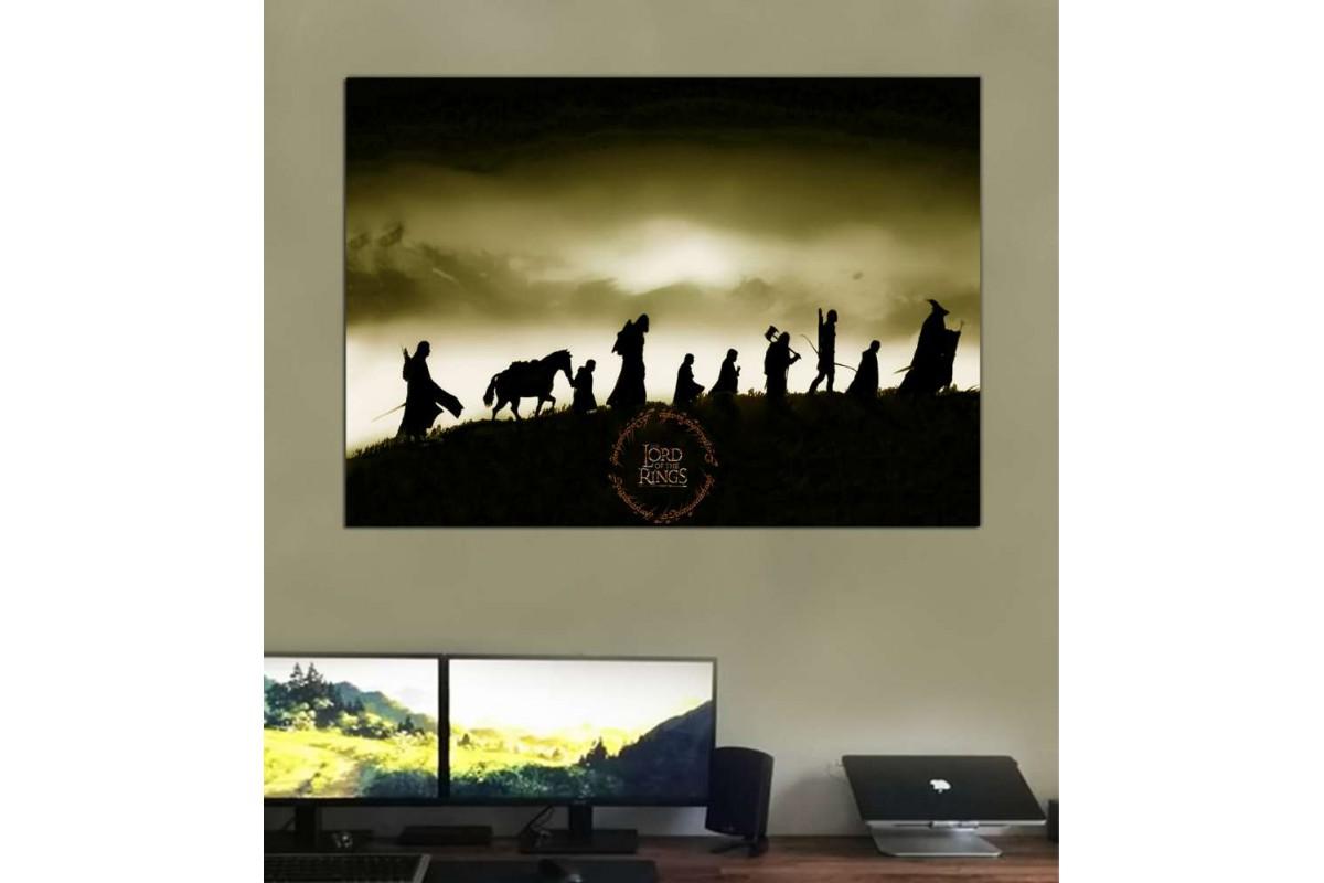 srye25d - Yüzüklerin Efendisi, Yüzük Kardeşliği, LOTR-Lord of the Rings-Fellowship Kanvas Tablo