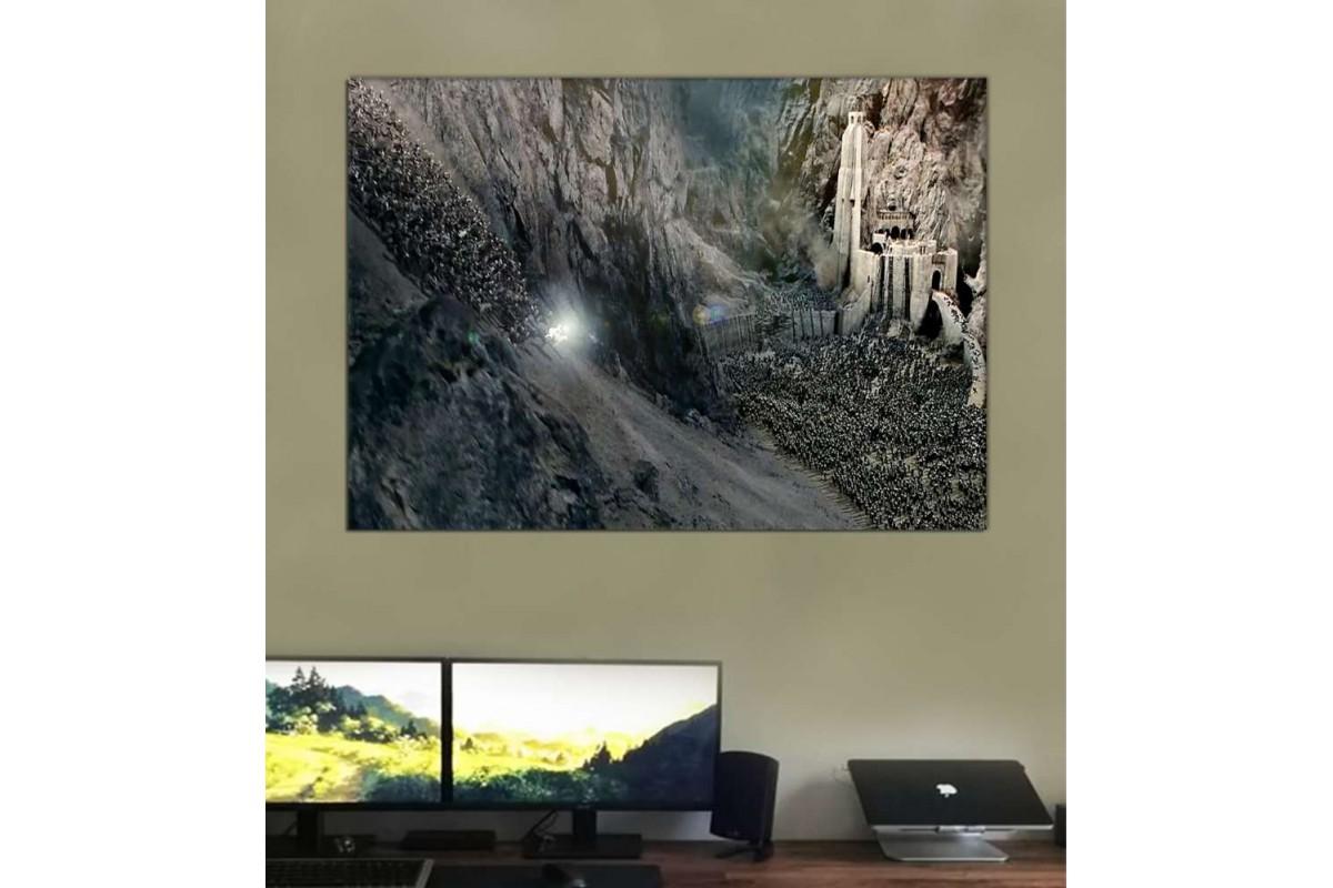 srye26 - Yüzüklerin Efendisi, Miğferdibi Savaşı, Rohirrim To The King, Gandalf kanvas tablo
