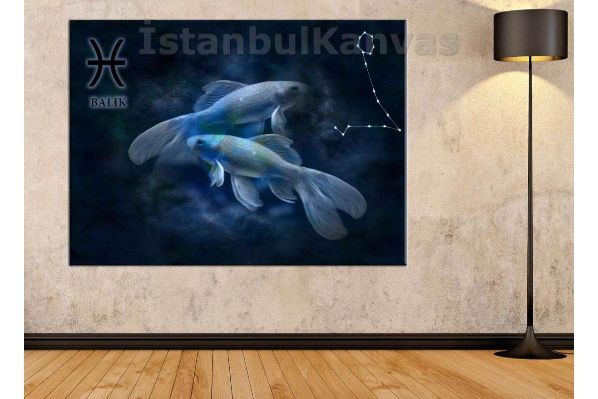 Srzb12 - Balık Burcu Özel Tasarım Kanvas Tablo