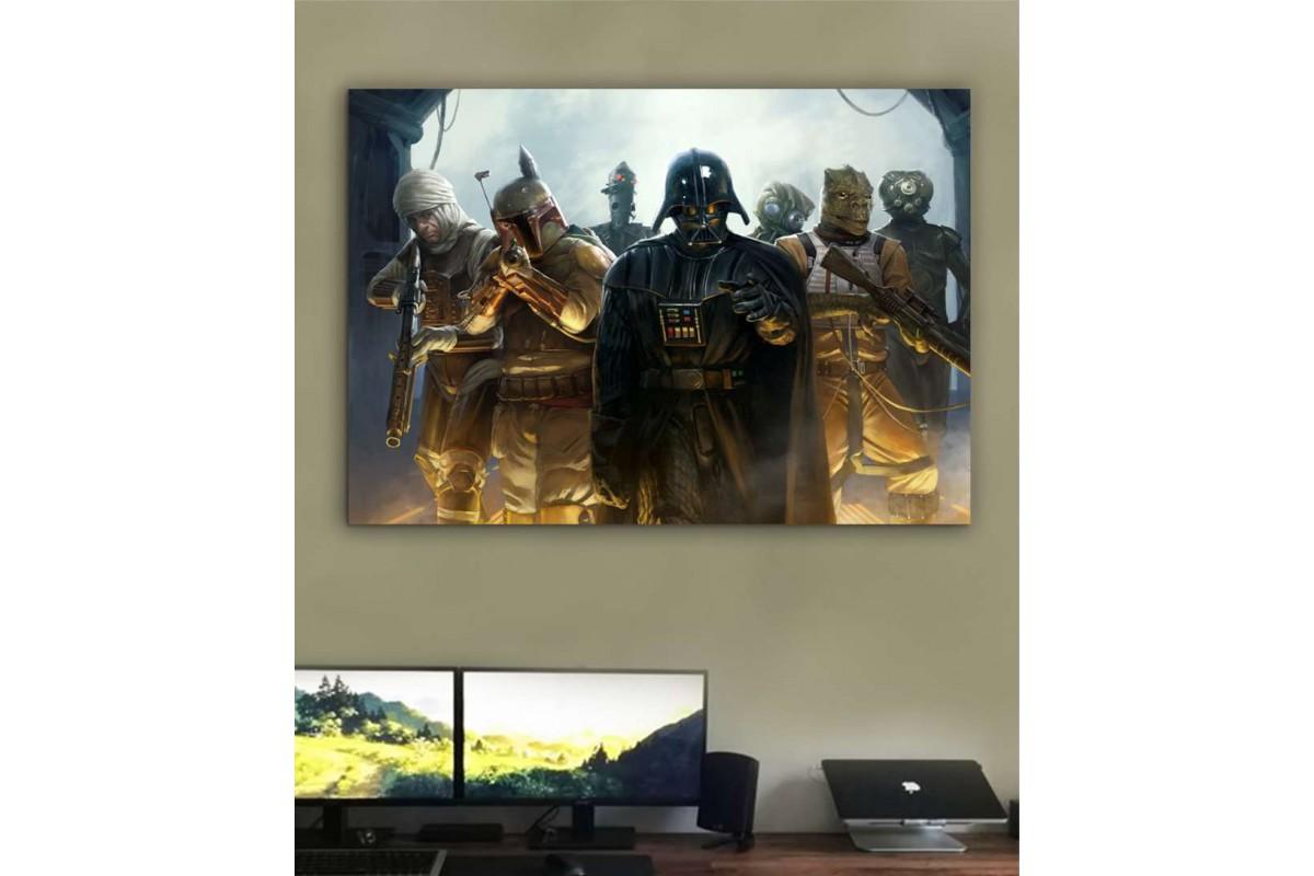 sww1- Darth Vader -Bounty Hunters- Ödül Avcıları- STAR WARS (YILDIZ SAVAŞLARI) KANVAS TABLO