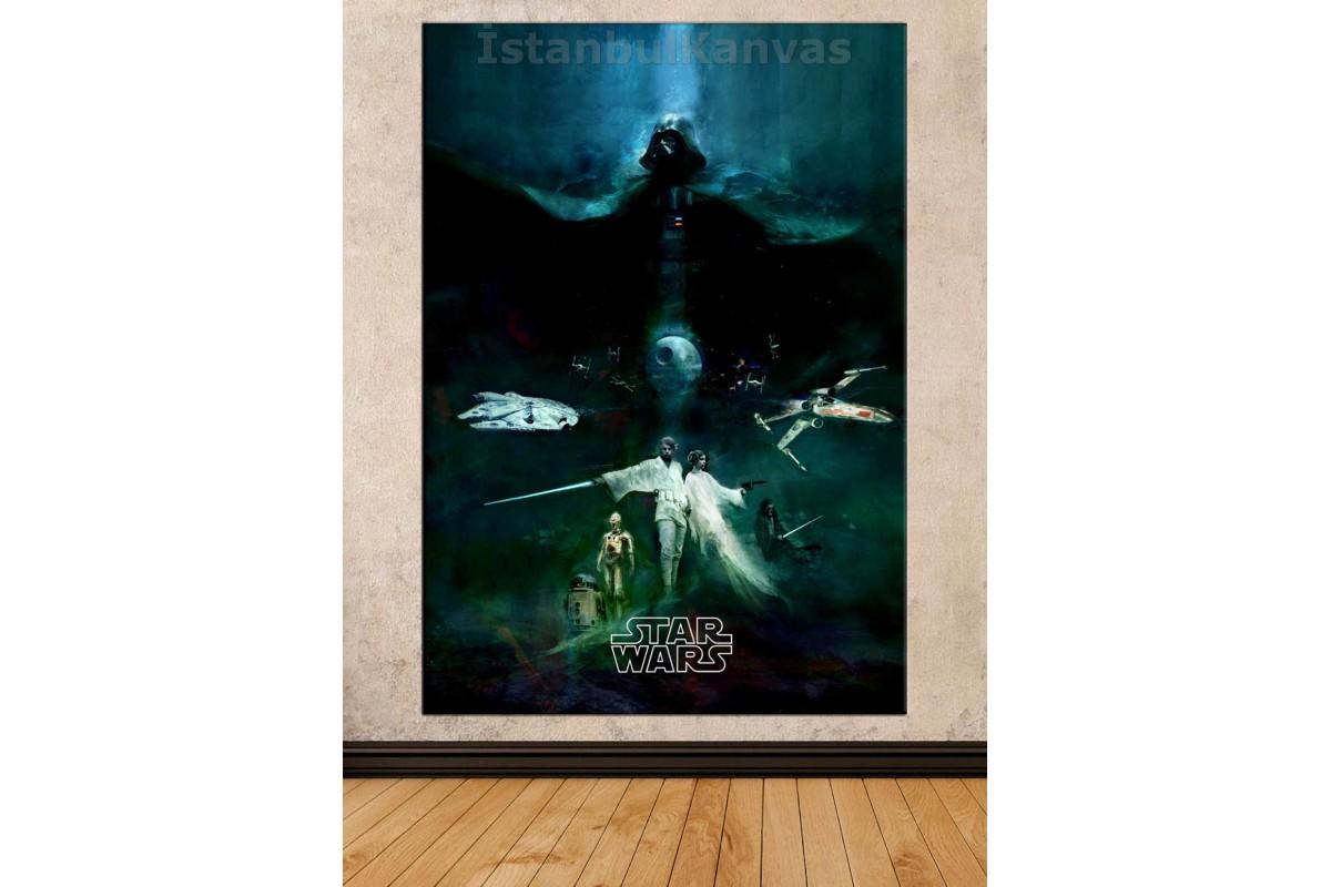Sww12 - Yağlı Boya Görünümlü - Star Wars (Yıldız Savaşları) Kanvas Tablo
