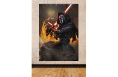 Sww14 - Kylo Ren - Star Wars (Yıldız Savaşları) Kanvas Tablo