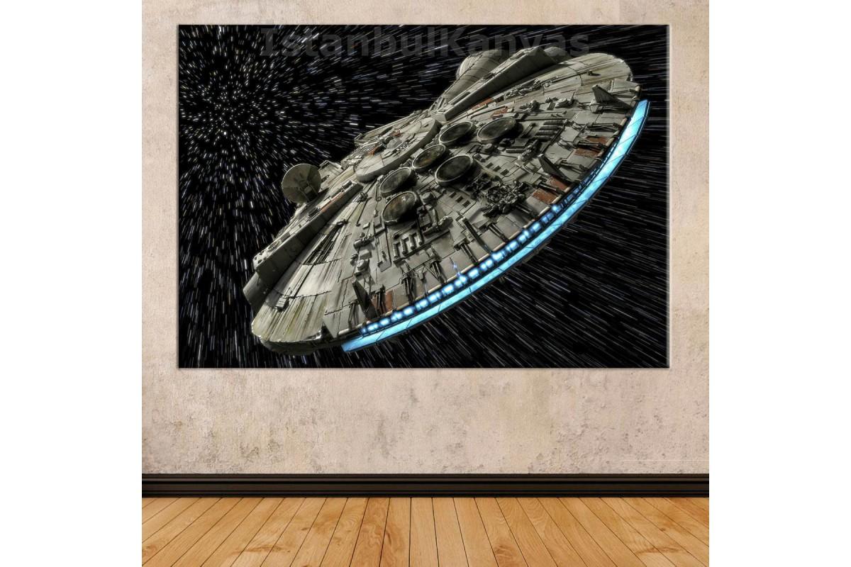 Sww15 - Millennium Falcon - Star Wars (Yıldız Savaşları) Kanvas Tablo