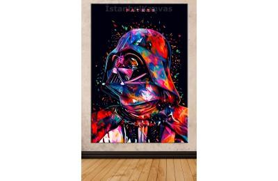 Sww18 - Darth Vader Soyut - Star Wars (Yıldız Savaşları) Kanvas Tablo