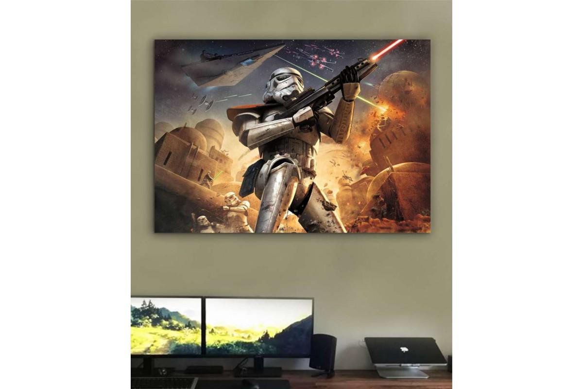 sww6 - Storm Trooper STAR WARS (YILDIZ SAVAŞLARI) KANVAS TABLO