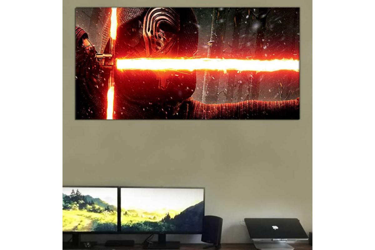 wsh32b - Kylo Ren ve Işın Kılıcı Star Wars, Yıldız Savaşları Kanvas Tablo