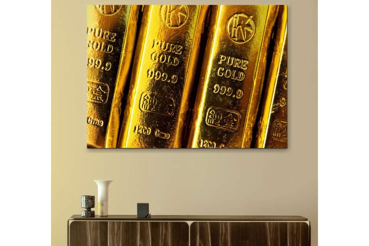 skyg1 - Dekoratif Külçe Altın, Kuyumcu Kanvas Tablo