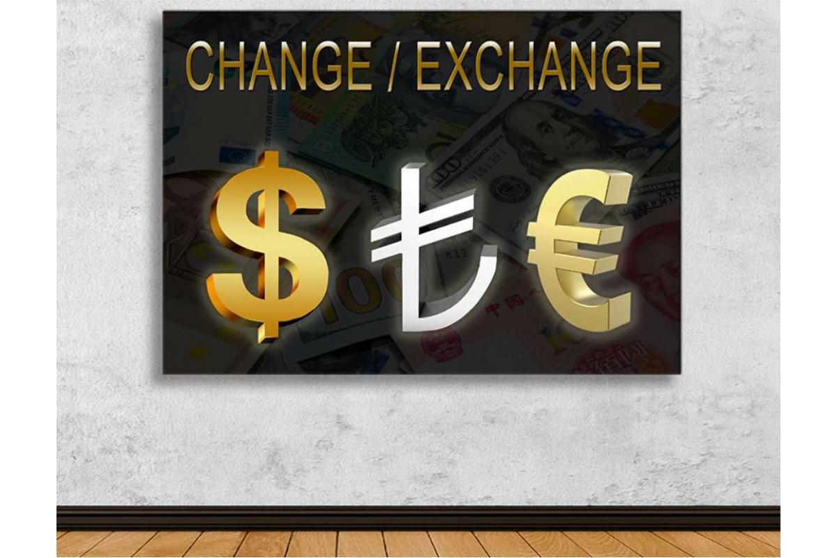 skyg2 - Dolar, Euro, TL Döviz Büfesi, Döviz Bürosu Change, Exchange Kanvas Tablo