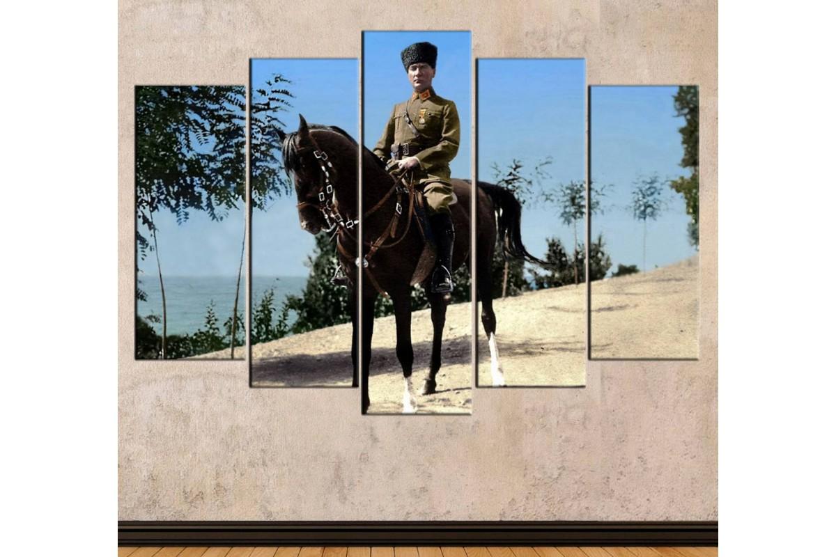 skra21 - Ata Binen Mustafa Kemal Atatürk Renklendirme Kanvas Tablo