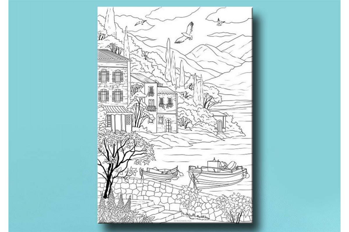 Yetişkinler İçin renkli boyama Tablo bym102 (boyama kalem seti hediyeli)