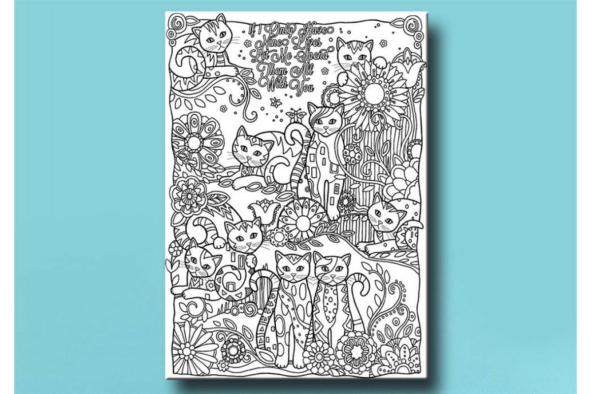 Yetişkinler İçin renkli boyama Tablo bym104 (boyama kalem seti hediyeli)