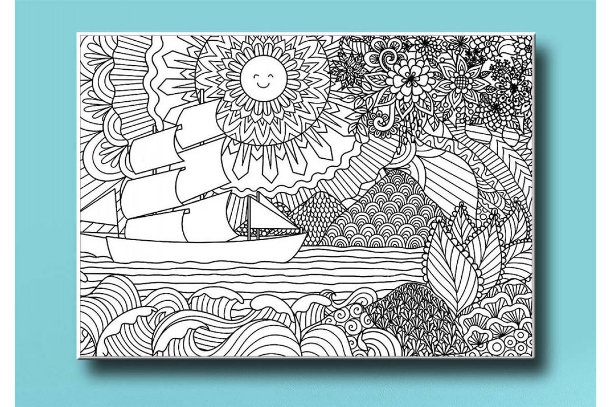 Yetişkinler İçin renkli boyama Tablo bym107 (boyama kalem seti hediyeli)