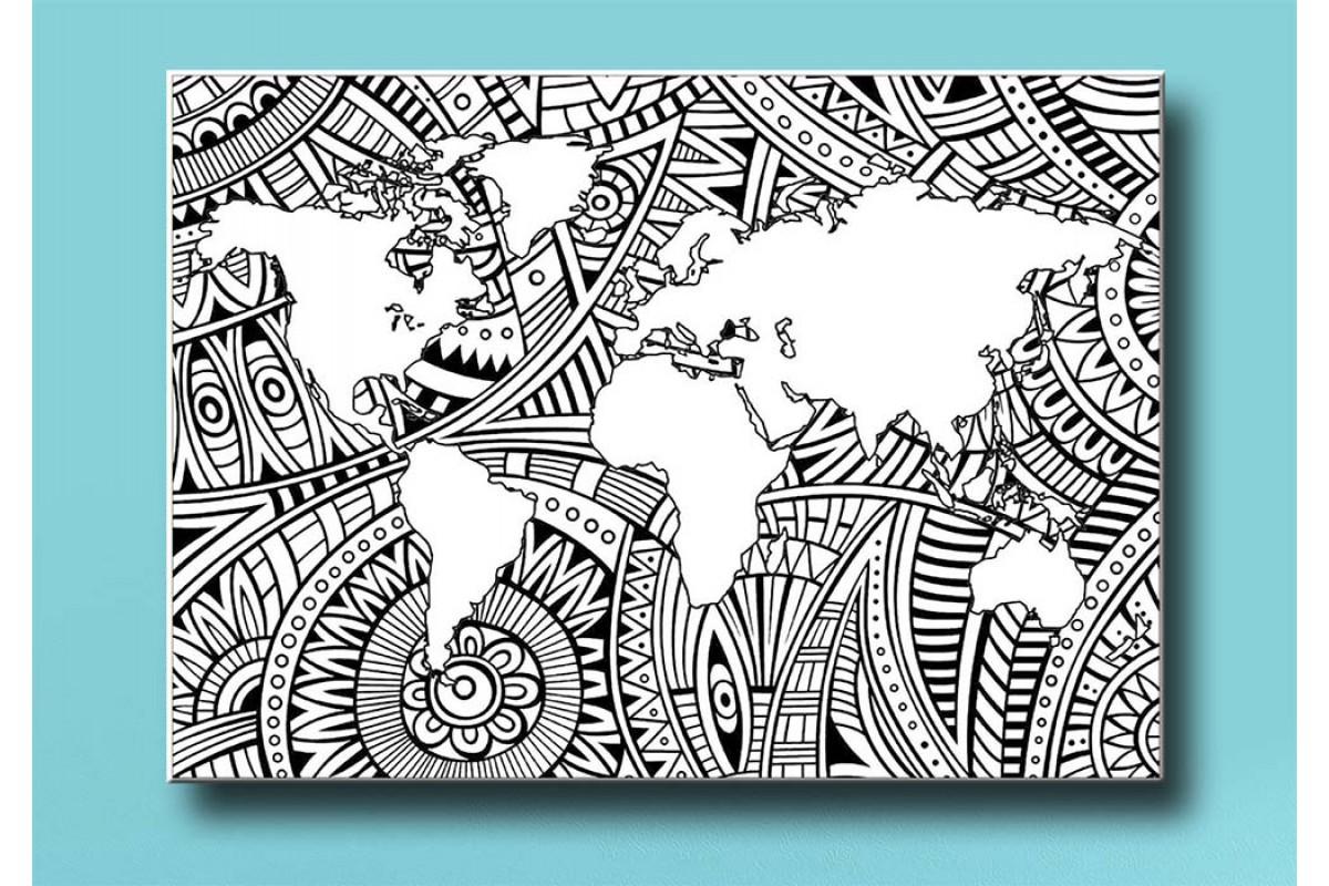 Yetişkinler İçin renkli boyama Tablo bym110 (boyama kalem seti hediyeli)