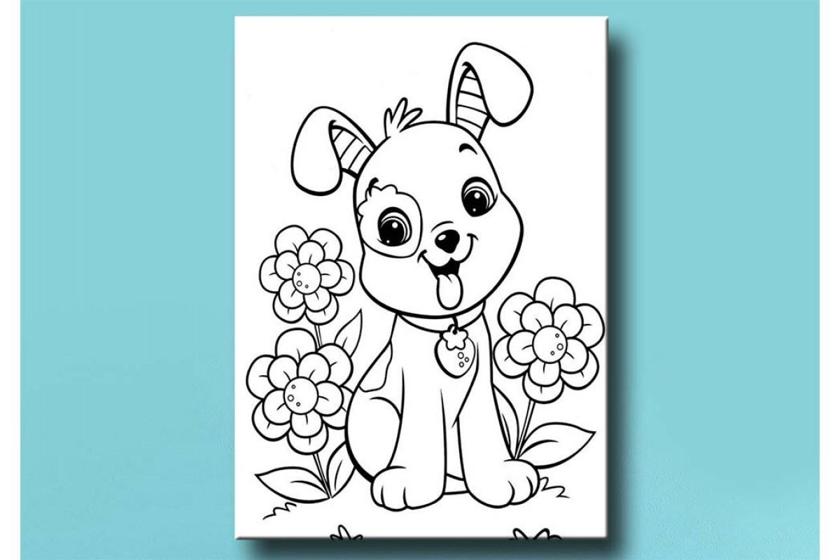 Çocuklar için renkli boyama tablo bym12 (boyama kalem seti hediyeli)