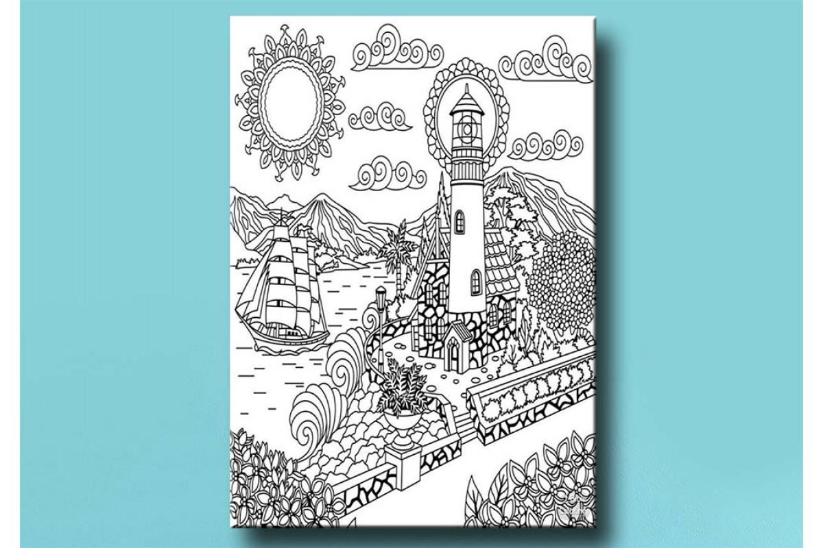 Yetişkinler İçin renkli boyama Tablo bym142 (boyama kalem seti hediyeli)