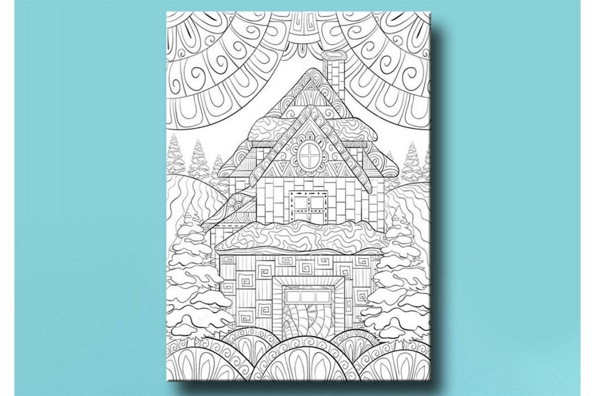 Yetişkinler İçin renkli boyama Tablo bym143 (boyama kalem seti hediyeli)