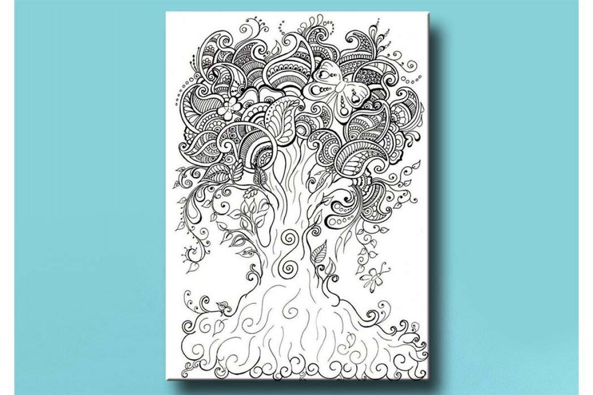 Yetişkinler İçin renkli boyama Tablo bym146 (boyama kalem seti hediyeli)