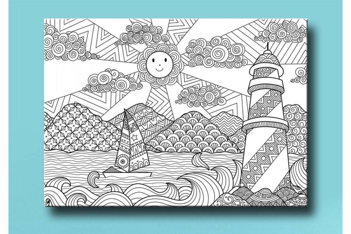 Yetişkinler İçin renkli boyama Tablo bym154 (boyama kalem seti hediyeli)