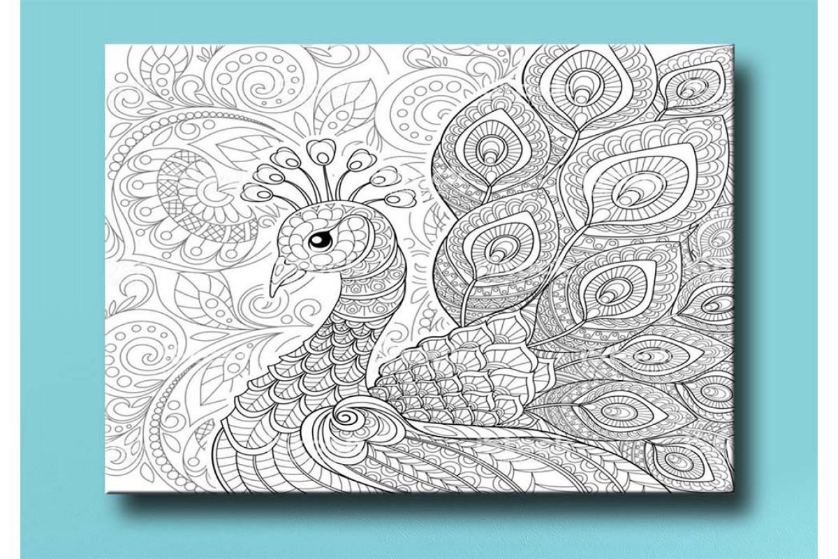 Yetişkinler İçin renkli boyama Tablo bym158 (boyama kalem seti hediyeli)