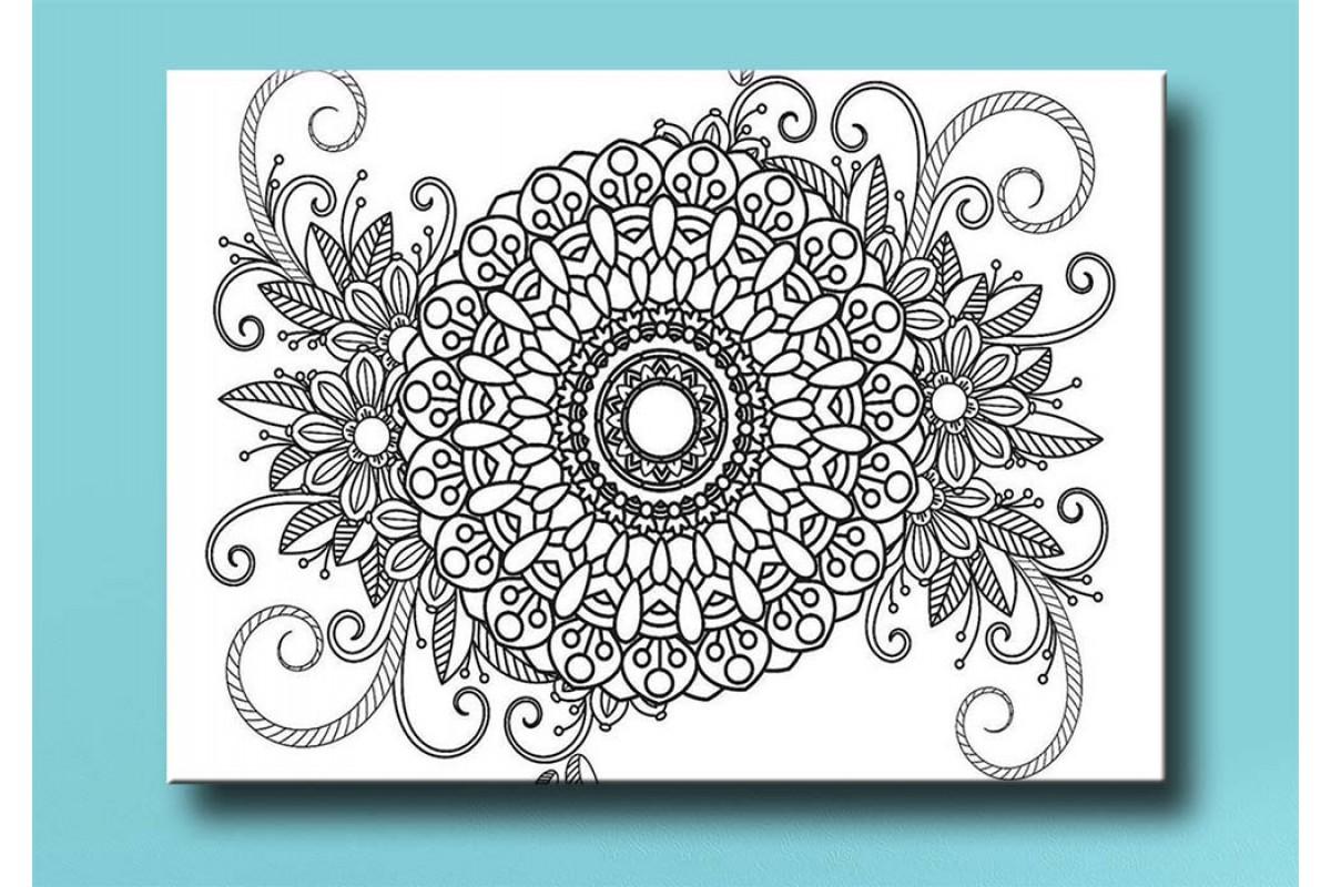 Yetişkinler İçin renkli boyama Tablo bym159 (boyama kalem seti hediyeli)