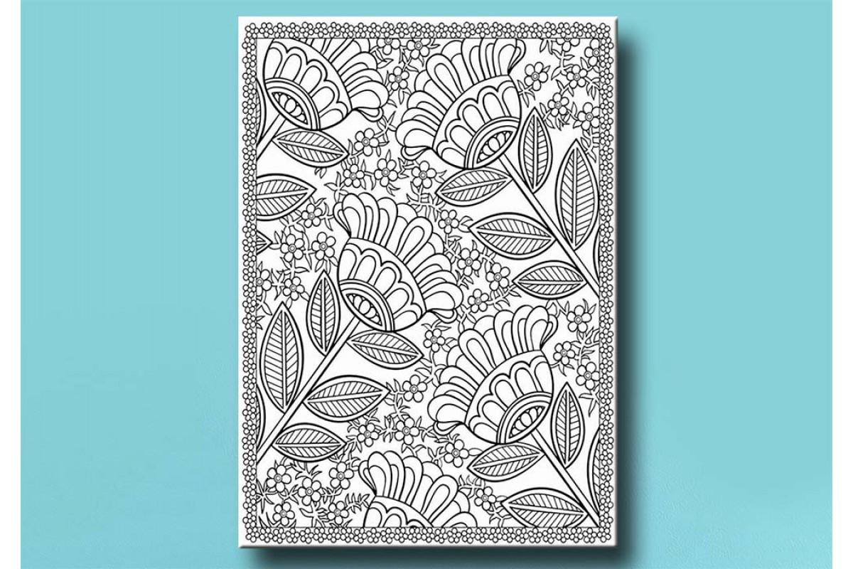 Yetişkinler İçin renkli boyama Tablo bym165 (boyama kalem seti hediyeli)