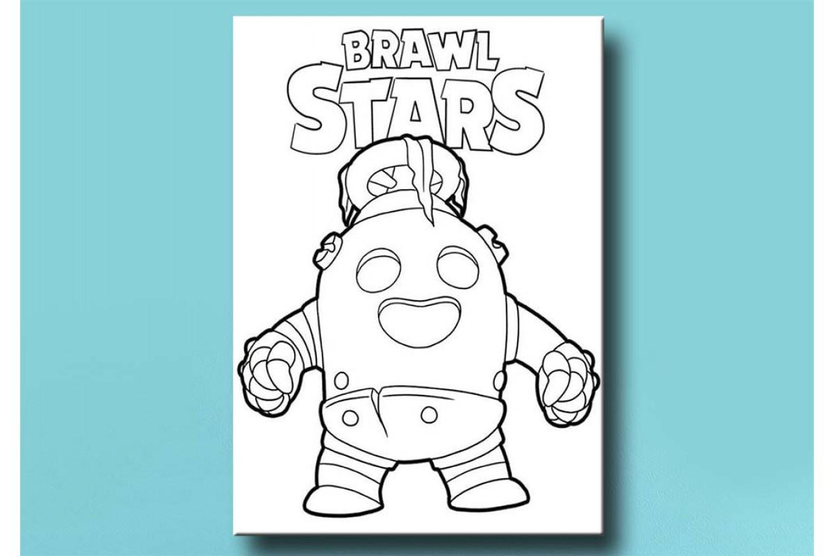 Çocuklar için renkli boyama tablo Brawl Stars bym22 (boyama kalem seti hediyeli)
