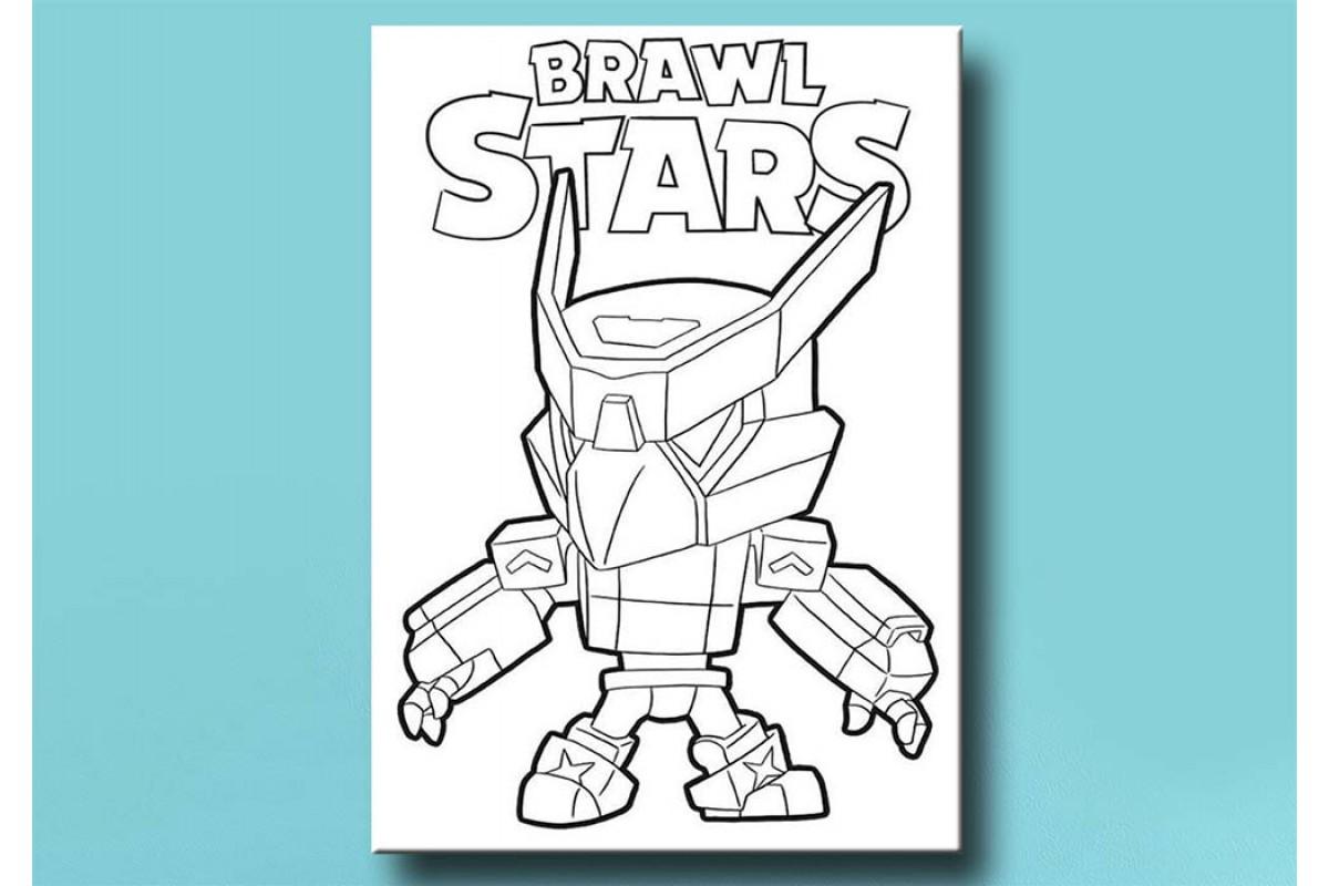 Çocuklar için renkli boyama tablo Brawl Stars bym25 (boyama kalem seti hediyeli)