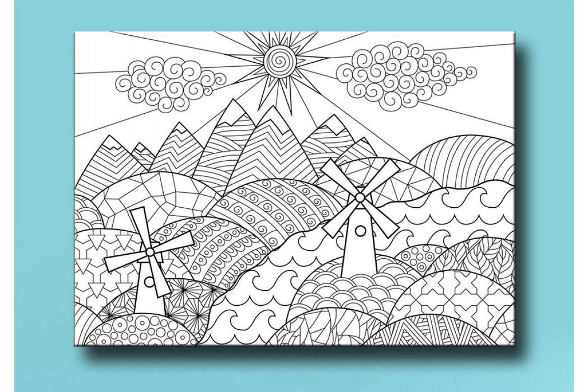 Çocuklar için renkli boyama tablo bym33 (boyama kalem seti hediyeli)