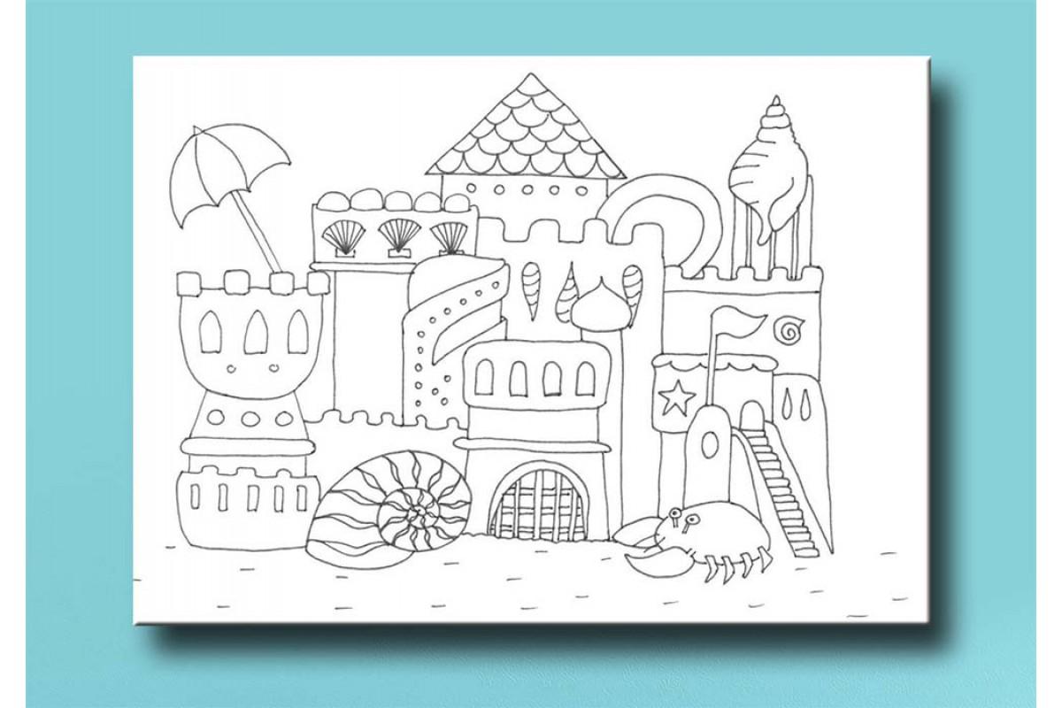 Çocuklar için renkli boyama tablo bym38 (boyama kalem seti hediyeli)
