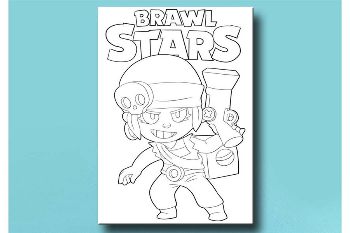 Çocuklar için renkli boyama Brawl Stars tablo bym41 (boyama kalem seti hediyeli)