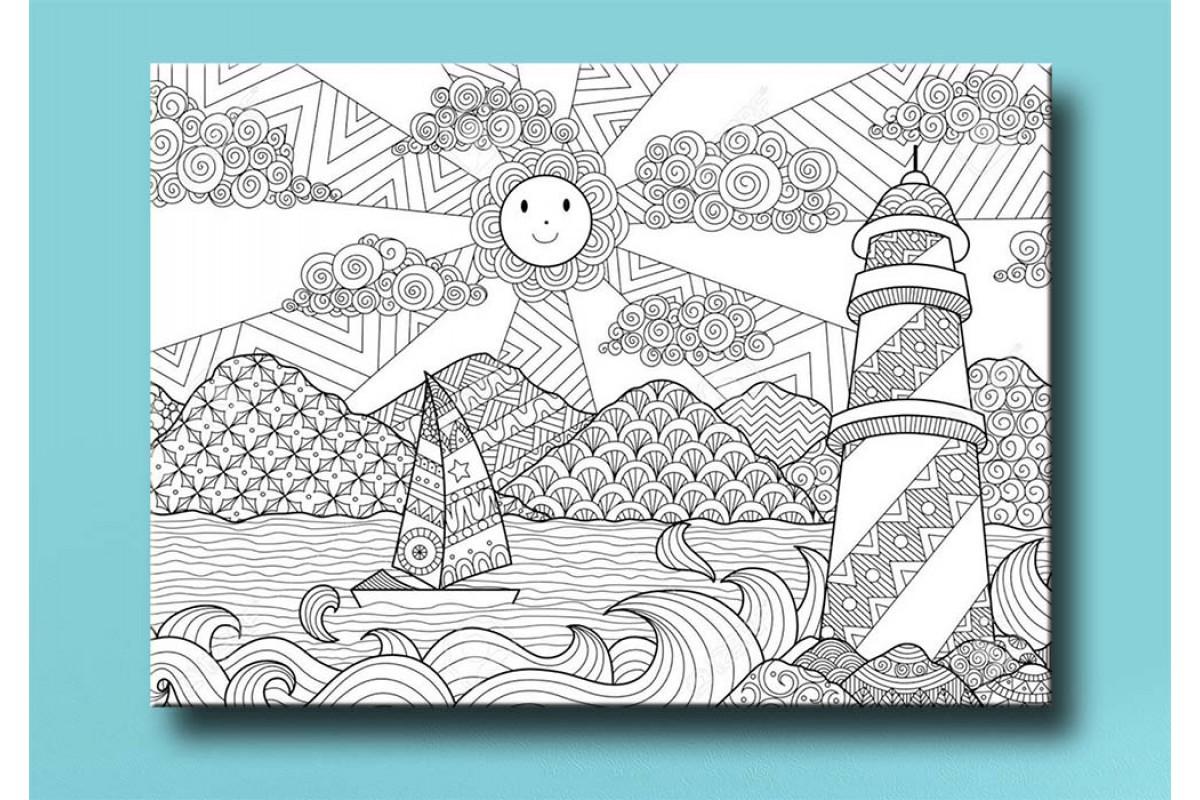 Çocuklar için renkli boyama tablo bym42 (boyama kalem seti hediyeli)