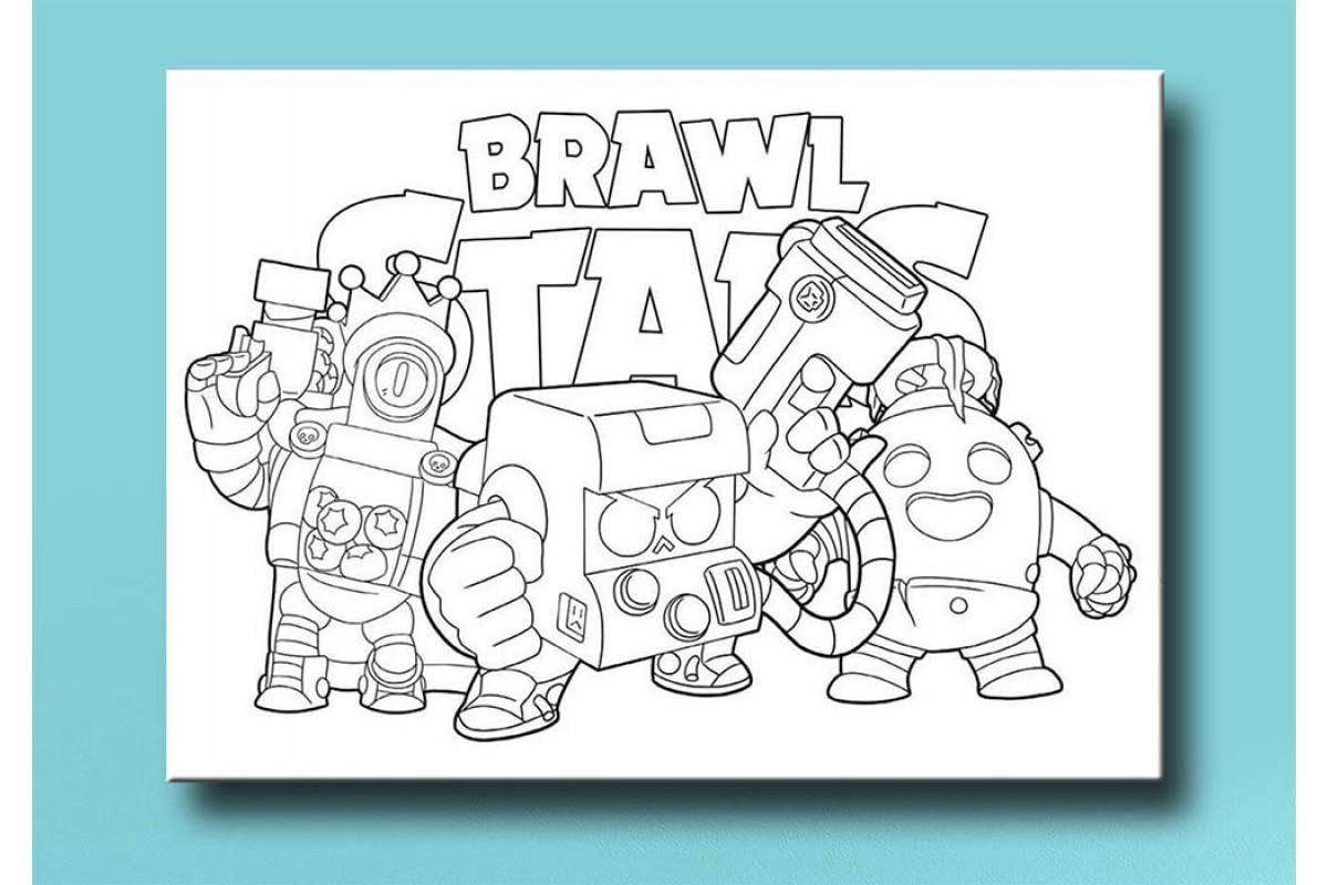 Çocuklar için renkli boyama tablo Brawl Stars bym44 (boyama kalem seti hediyeli)