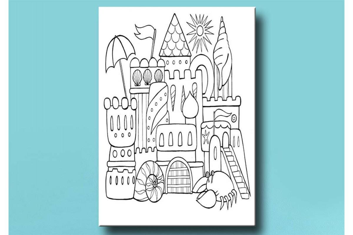 Çocuklar için renkli boyama tablo bym46 (boyama kalem seti hediyeli)