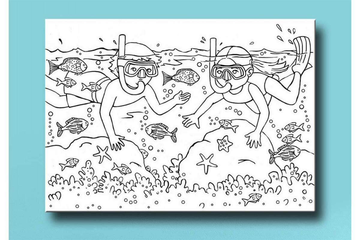 Çocuklar için renkli boyama tablo bym54 (boyama kalem seti hediyeli)