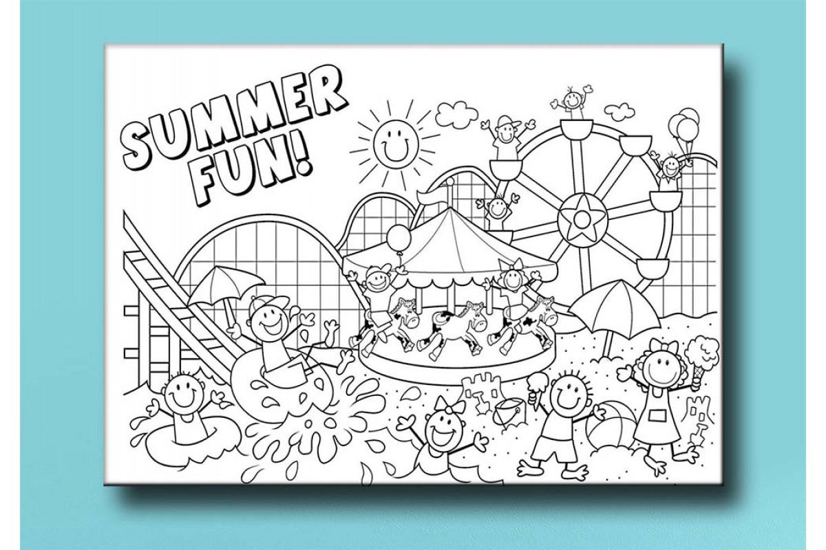 Çocuklar için renkli boyama tablo bym58 (boyama kalem seti hediyeli)