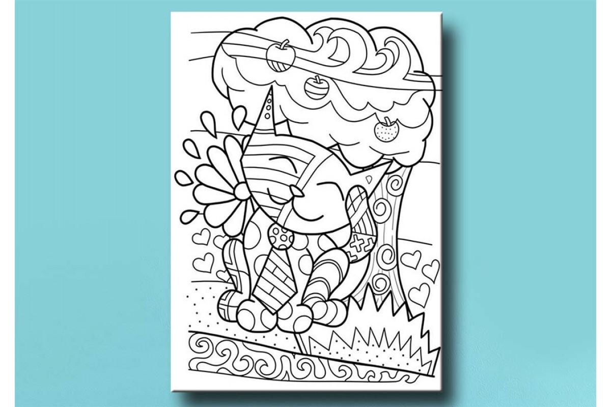 Çocuklar için renkli boyama tablo bym59 (boyama kalem seti hediyeli)