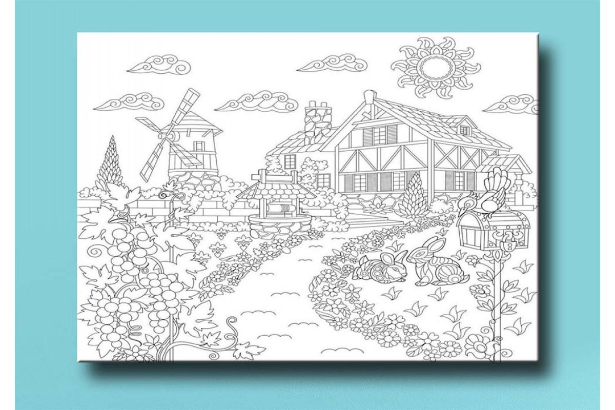 Çocuklar için renkli boyama tablo bym6 (boyama kalem seti hediyeli)
