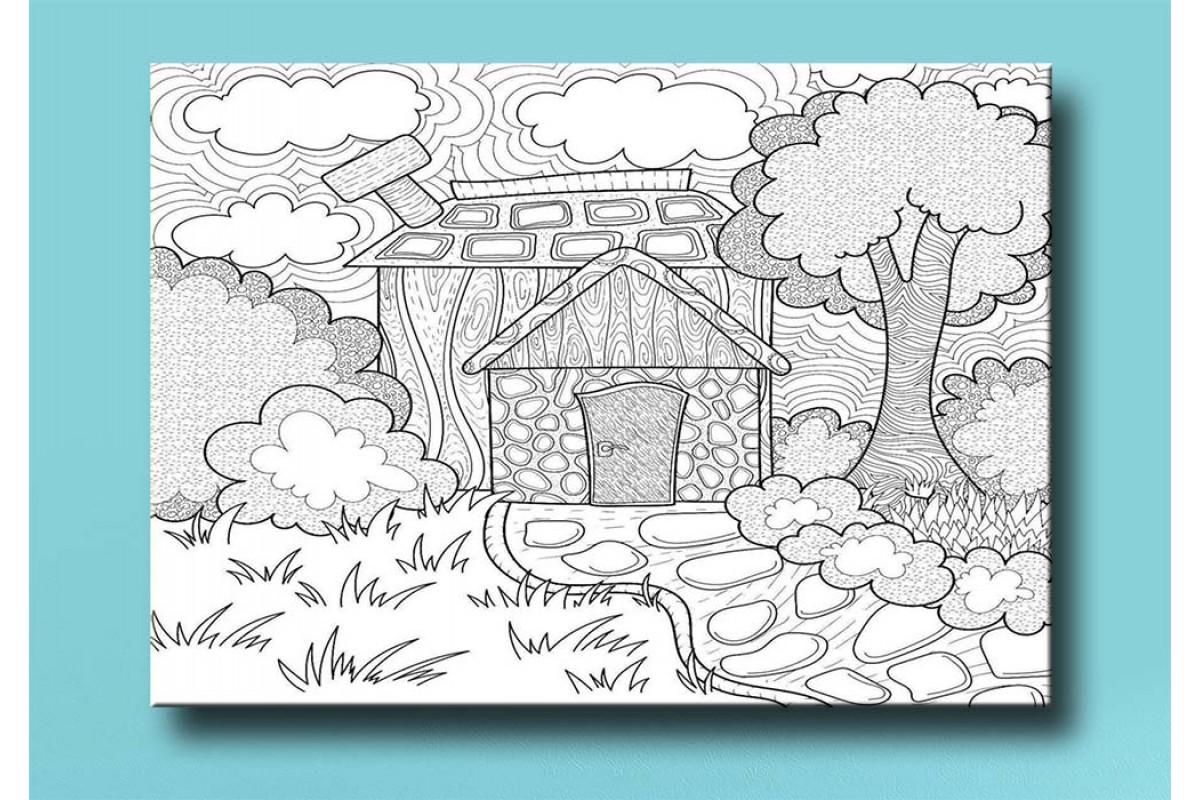 Çocuklar için renkli boyama tablo bym7 (boyama kalem seti hediyeli)