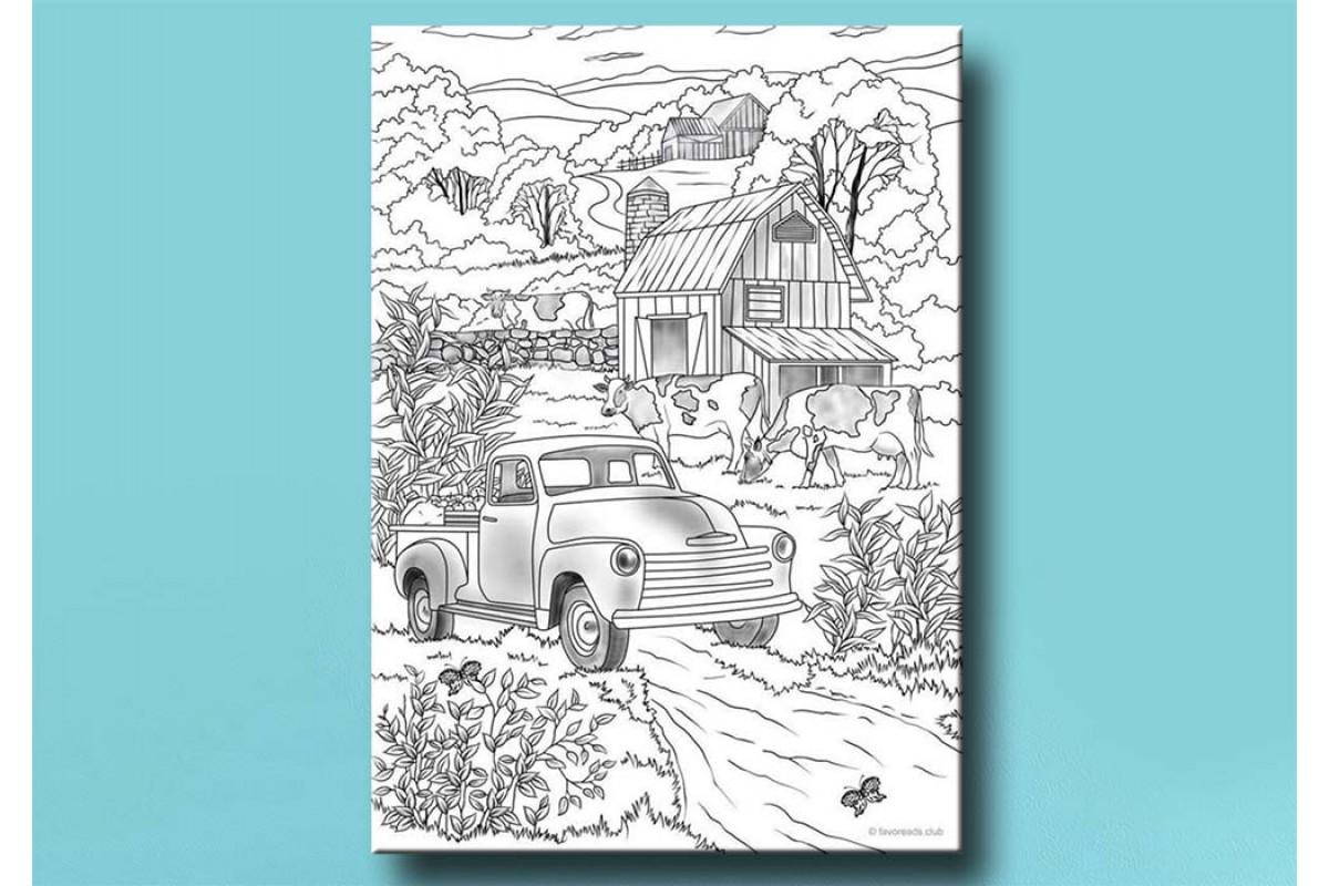 Yetişkinler İçin renkli boyama Tablo bym99 (boyama kalem seti hediyeli)