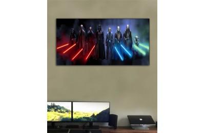 wsh34b - Star wars, Yıldız Savaşları, Sith Lordları ve Jedi Şövalyeleri Kanvas tablo 50x100cm