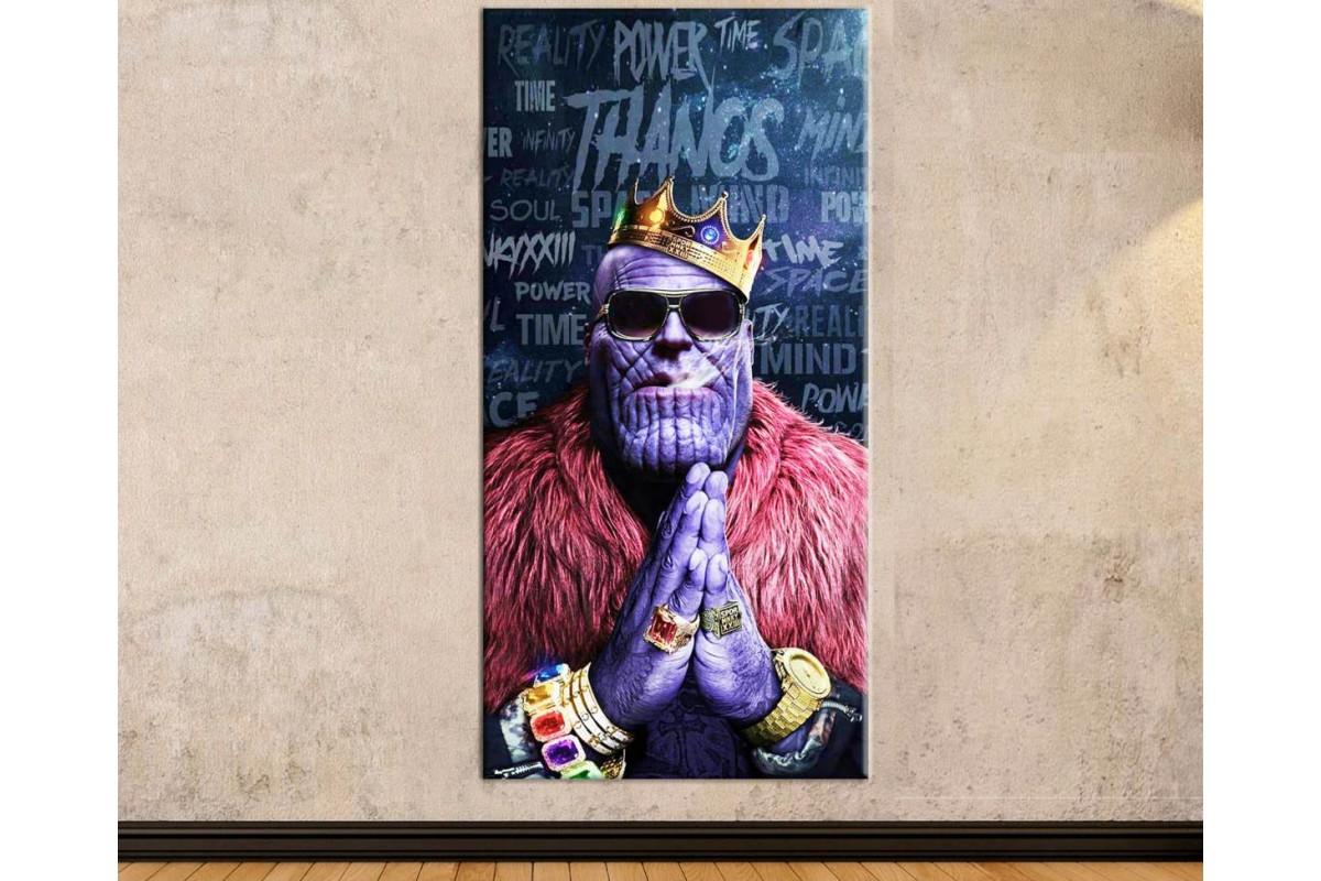 wsh44 - Güneş Gözlüklü ve Güç Taşı Yüzüklü Thanos - Biggie kanvas tablo