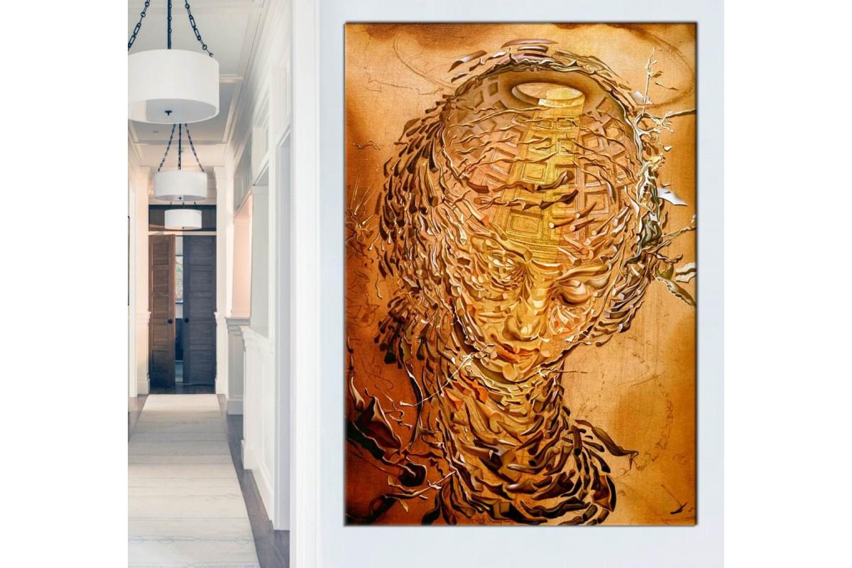 srds2 - Salvador Dali - Raphaelesque Head Exploding Sürrealist Kadın Sureti Kanvas Tablo
