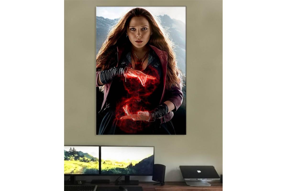 srsh44 - En Güçlü Avenger Scarlet Witch , Wanda Maximoff Kanvas Tablo
