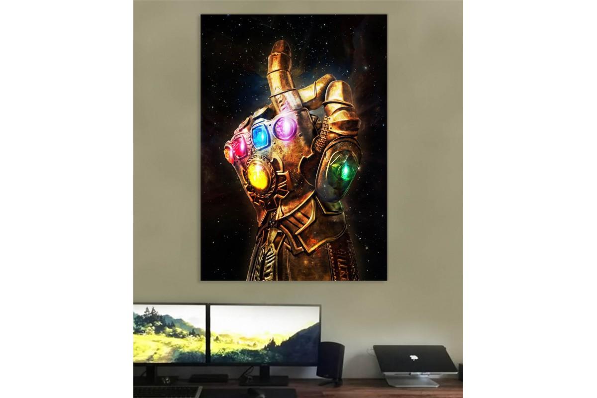 srsh46 - Thanos Infinity Gauntlet ve Sonsuzluk Taşları Kanvas Tablo
