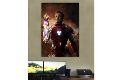 srsh47 - I am Ironman - Infinity Gauntlet Yağlıboya Görünümlü Kanvas Tablo