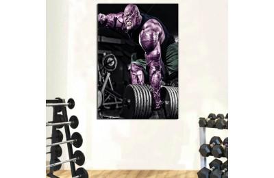 srss35 - Vücut Geliştirme, Spor Salonu, Dambıl Kaldıran Thanos Kanvas Tablo