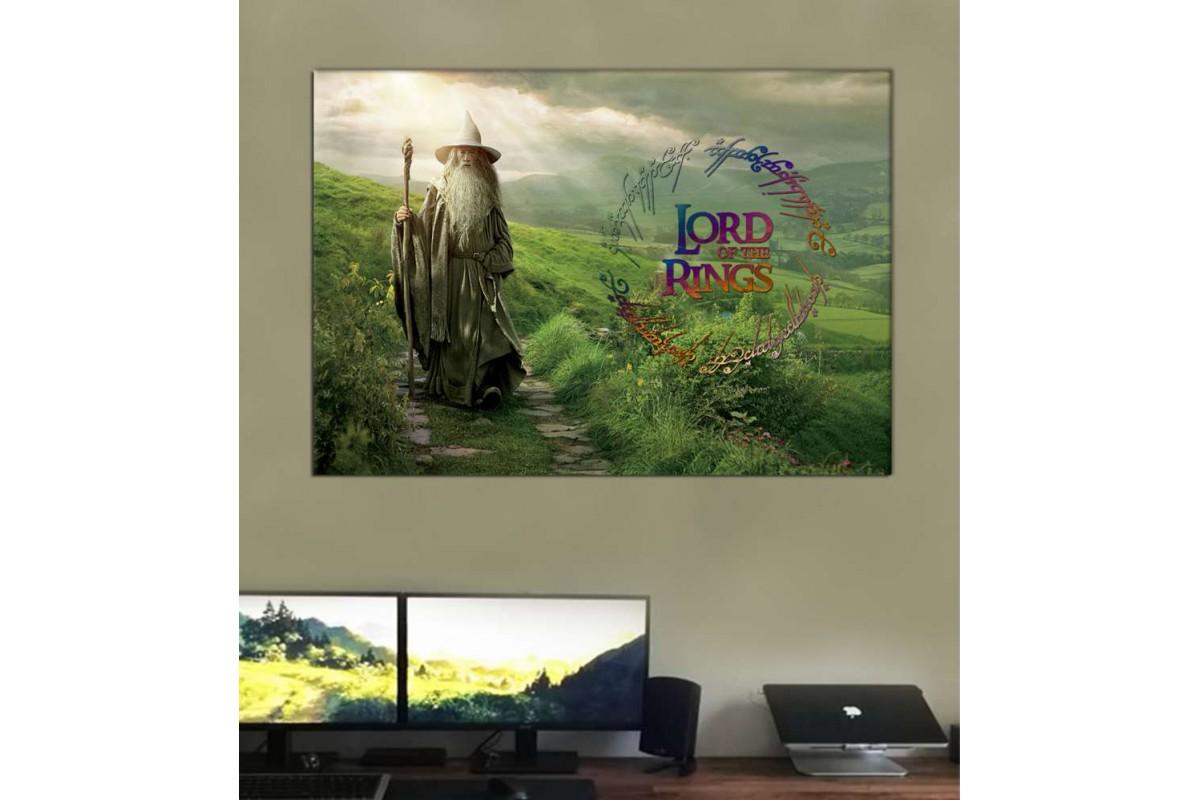 srye02 - Yüzüklerin efendisi, Lord of The Rings, Gandalf özel tasarım kanvas tablo