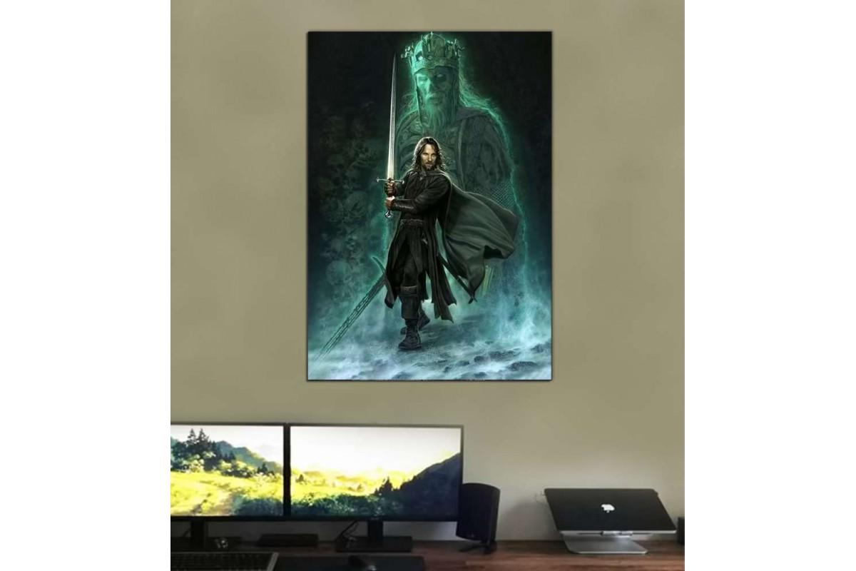 srye04 - Kral Aragorn ve Hayalet Ordusu Lord Of the Rings Kanvas Tablo