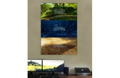 srye42 - Lord of The Rings - Yüzüklerin Efendisi Üç Filmden Sahneler Temalı Kanvas Tablo